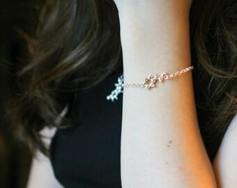 Love Junkie - 3D Molecule Charm Bracelet - Sterling Silver