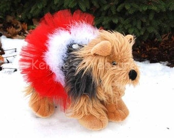 Santa Paws Dog Tutu - Fits Dogs 13 To 23 Inches Around