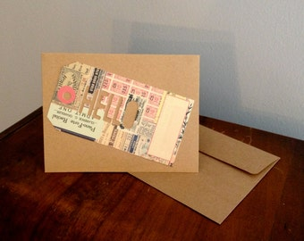 Hello Travel Tag Set of Blank Greeting Cards and Envelopes