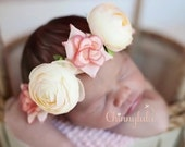 Silk Rose Baby Flower Crown