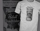 Blue Velvet Movie T Shirt - Pabst Blue Ribbon Tee - Dennis Hopper PBR - FREE SHIPPING