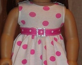Pink Polka Dot Twirl Dress And Leggings For American Girl Or Similar 18-Inch Dolls