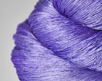 Periwinkle on its way to paradise - Silk Lace Yarn
