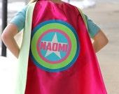 Girls Full Name Customized Cape - PERSONALIZED Super star cape - Full Name SUPERHERO Cape - As seen on Cool Mom Picks -
