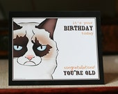 Hilarious Grumpy Cat Birthday Card