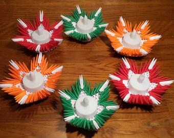 3d origami Tea Light's holder