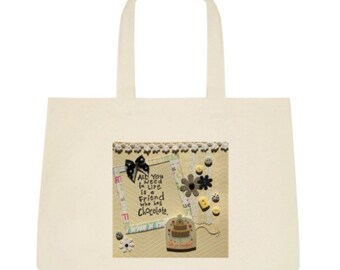 Chocolate Tote Bag in Yellow