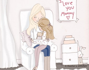 A Mother's Treasure - Mom and Daughter  Art - Art for Moms - Inspirational Art for Women - Just Like You