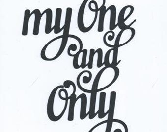 My one and only word silhouette