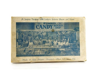 Vintage Candy Box, McLinden's Butcher Shop, Candy Bacon, New Orleans