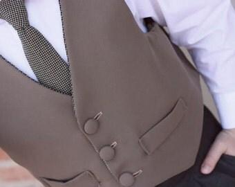 Dapper Lad Vest NB-16 - Ellie Inspired Boy Vest PDF pattern