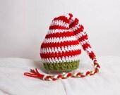 Elf Hat Newborn Photo Prop Photography Props Infant Photo Prop Crochet Elf Hat Crochet Braided Beanie Baby Photo Christmas Prop