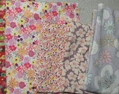 Cotton Fabric Scrap - Purple mixed bundle