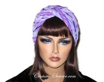 Purple Turban, Women's Purple Turban, Handmade Purple Turban, Purple Fashion Turban, Twist Turban, Purple Stripe Turban, Silky Turban