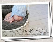Thank You Card, Baby Thank You Card, Photo Thank You Card, Baby Thank You card, Printable Thank You Card, Modern Thank You Card (Thank You)