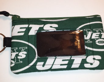 NY Jets Zip ID pouch