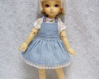 Sales Super Dollfie Yo SD Littlefee Blue Stripe Dress Set
