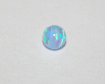 4mm Light BLUE OPAL Round Bead, Fully Drilled Hole - Jewelry Making - BalliSilver - Free Shipping Worldwide.