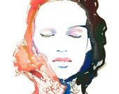 Archival Prints of Watercolour Fashion Illustration. Titled - Heartink1