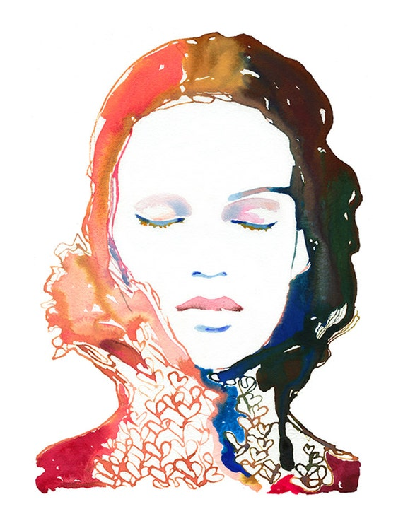 Fashion Watercolor Print, Fashion Illustration, Fashion Wall Art, Fashion Gift, Fashion Poster, Watercolor Fashion