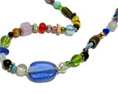 Colorful Necklace ~ Hippe Chic Necklace ~ Bright Color Necklace ~ 18 inch