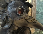 Black Leather Plague Doctor Mask Raven Crow Cosplay Goggles