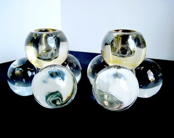 Vintage Westmoreland Four ball Candle Holders