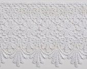 Venice lace white sewing trim for altered couture, prom gown, and art, jewelry, accessories, decor 10 yards