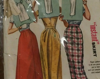 Lot of 3 Vintage Sewing Dress Patterns from 1950s and 1960s