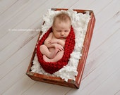 Red Baby Bowl Newborn Photography Egg Pod