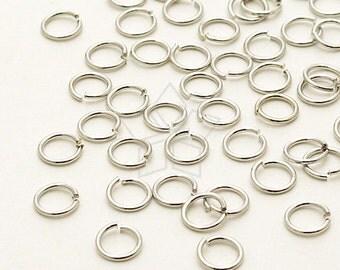 BS-121-OR / 10 Grams - 4mm Jump Rings, Silver Plated Brass / 24 Gauge(0.5mm)