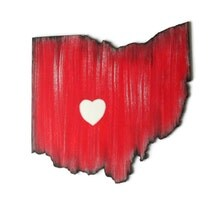 Any State Cut Out Wooden Wall Decor In Red Black Gray