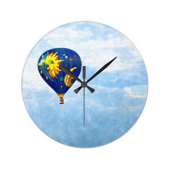 Yellow Sun Wall Decor : Items similar to decorative wall clock with hot air