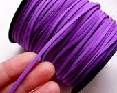 Suede Leather Strips / Faux Leather Cord / Leather Strap / Leather String Cord / Suede Cord (3mm / 2 Meters / Purple) Necklace Bracelet A007