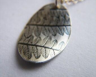 Delicate Fern Imprint Necklace by Cari-Jane Hakes, Hybrid Handmade Jewellery