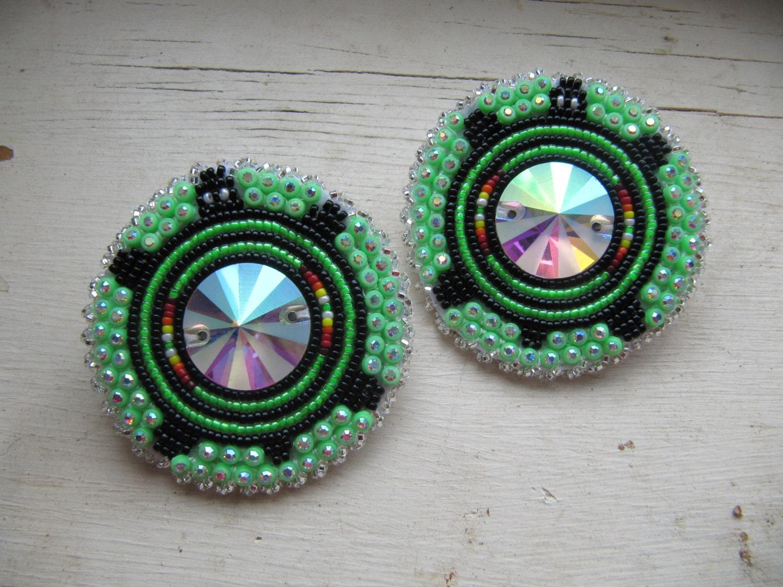 american beaded earrings