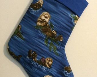 Sea Otter Christmas Stocking