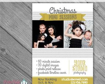INSTANT DOWNLOAD - Modern Christmas Marketing Board 2- custom 5x7 photo template