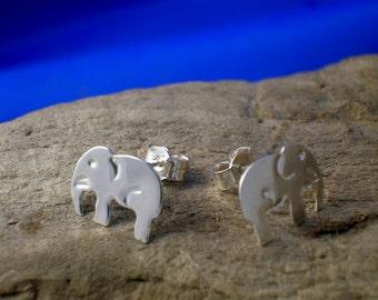 Elephant Studs, Silver Elephant Studs, Ele Studs, Elephant jewellery, Handmade, Animal Jewellery, Small Studs, Elephants, Elephant Earrings