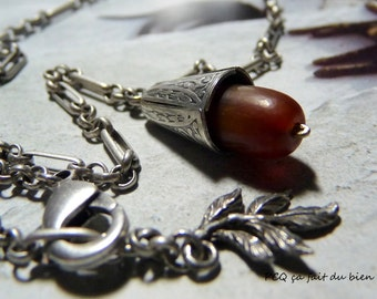 Pendant horn & silver