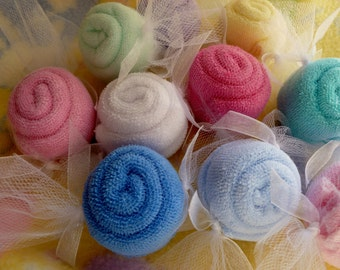 Baby Washcloth Candy Bundle of 10..Baby Shower Favors..Toddler Birthday..Party Favors..Baby Washcloths..Baby Washcloth Gift...One Free :)