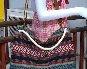 Crossbody tote bag / Thai bag. Cotton bag.