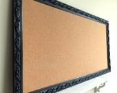 JEWELRY ORGANIZER Wall Cork Board Black Corkboard Pinboard Jewelry Organizer Hanging Necklace Organizer Girl Room Classroom Home School