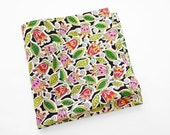 Men's Cotton Floral Pocket Square with pink and red flowers