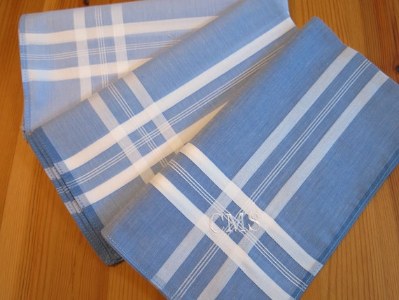 set of 3 assorted color fine cotton mens handkerchiefs style
