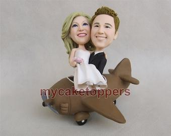 custom wedding cake topper airplane wedding cake topper