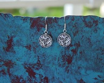 Celtic Horse Earrings Sterling Silver Equestrian Earrings Horse lover Jewelry