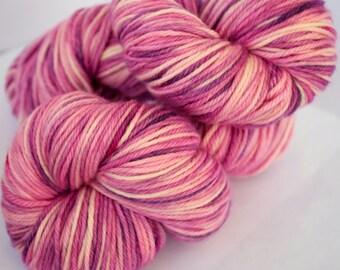 Custom Hand-dyed Semi-solid Superwash Merino Wool Yarn Skein 4 oz