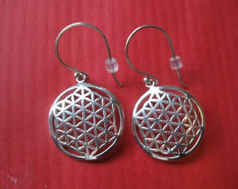 Sterling Silver Flower of Life earrings