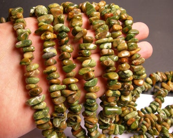 Rhyolite - bead - full strand - nugget - rounded pebble - A quality - PSC26